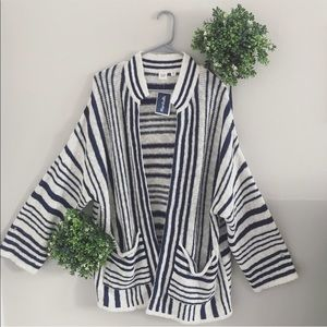 Gap blue and white stripe cardigan size XS